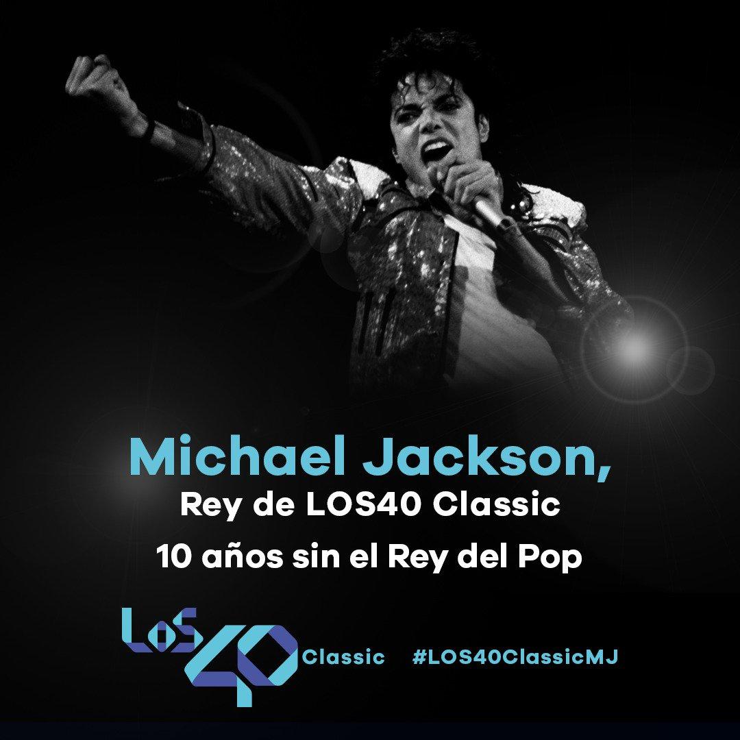 10 años sin Michael Jackson 😢  Hoy en @Los40Classic_ homenajeamos al 'Rey del Pop' llenando las redes de 'moonwalks'. Comparte el tuyo con la etiqueta #Los40ClassicMJ y consigue sus vinilos en formato Picture Disc. https://los40.com/los40/2019/06/24/los40classic/1561376419_010809.html…