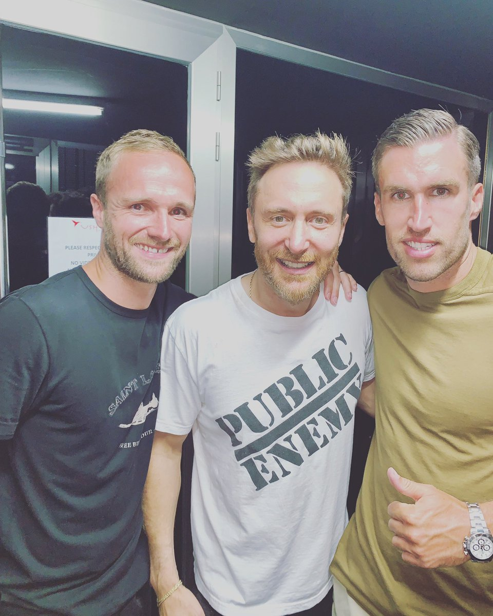 Kevin Strootman, Valere Germain et David Guetta