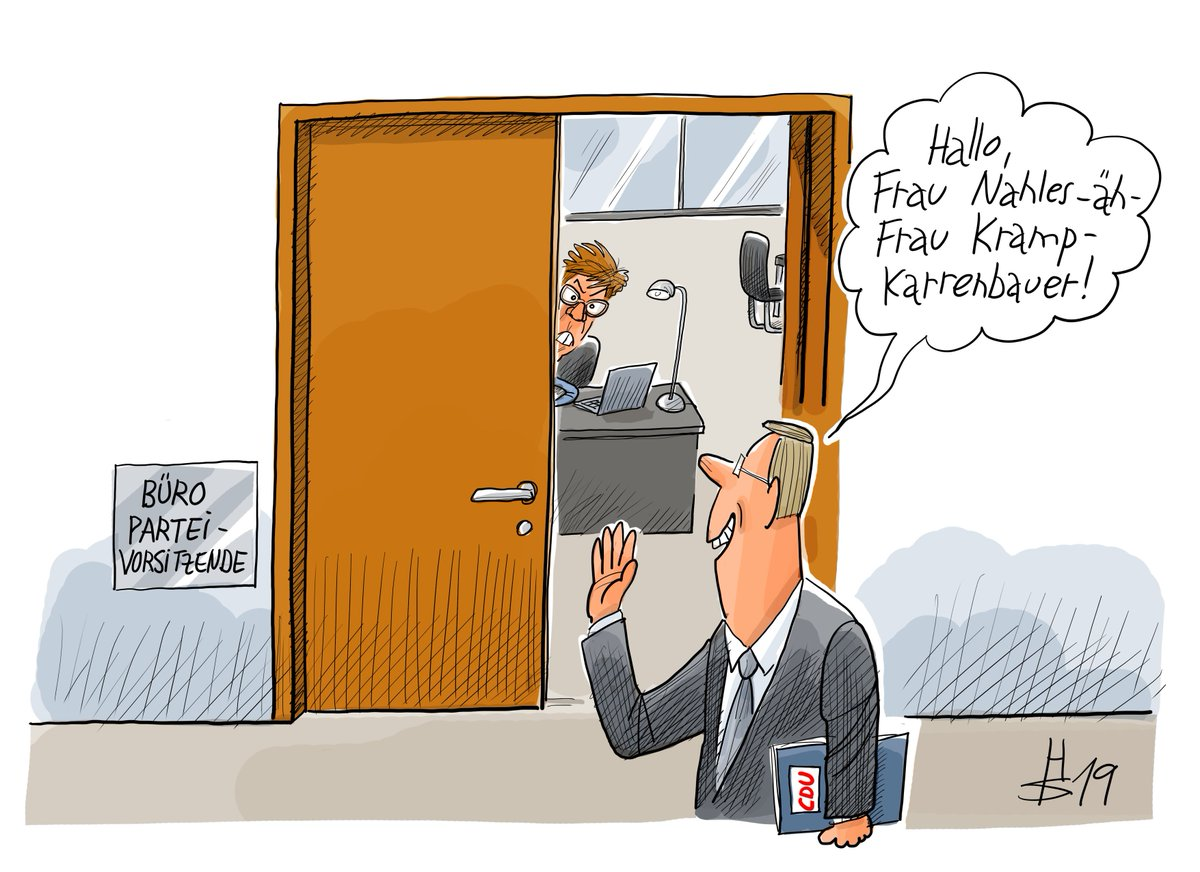 Cicero Online Pa Twitter Freudscher Versprecher Oder Schon Mobbing Unsere Karikatur Des Tages Akk Nahlesrucktritt Cdu