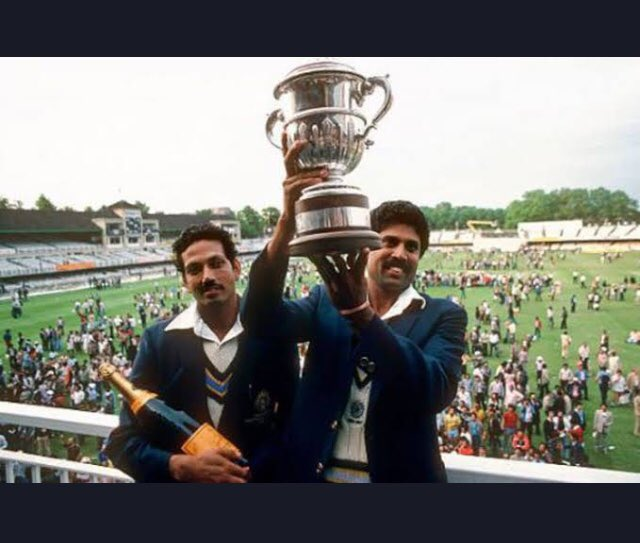 On this day- 25th June,1983. The day we were Champions for the first time in cricket. #KapilDev #ICCCricketWorldCup