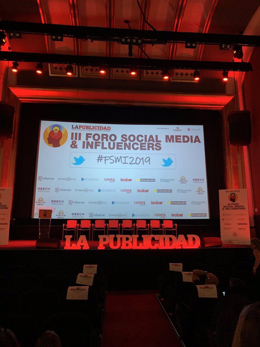test Twitter Media - Empezamos el III Foro Social Media & Influencers organizado por @PdelaPublicidad con Beatriz Calzada y Ginés Ochoa como ponentes #socialmedia https://t.co/dM6g66FXs3