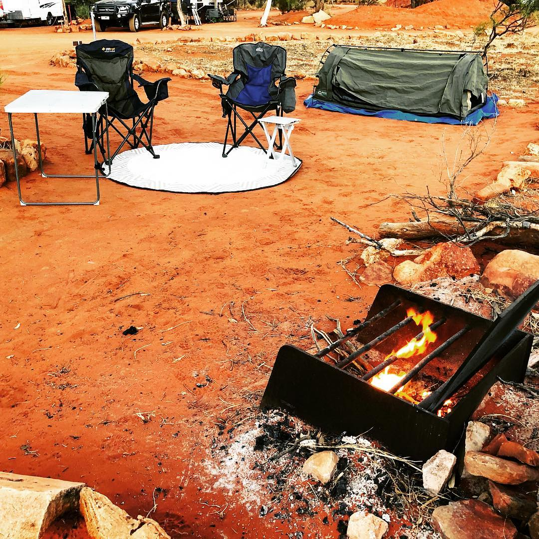 Sometimes all you need is a swag and a fire. #australia