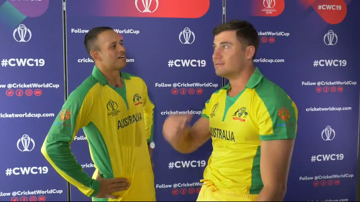 Before #CWC19 got underway, the Aussies had a bit of fun with a game of cricket charades 😂 #CmonAussie