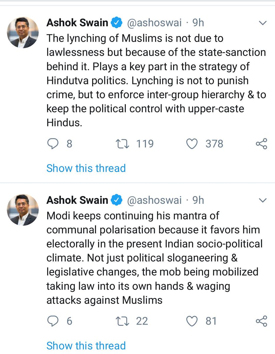 Lynching of Muslims in India is a state policy now, not isolated incidents of mob fury.. Muslims in India betrayed by their own...Darul Uloom Deoband & two Owaisi brothers in Hyderabad. Akbar & Awais Following in the footsteps of Mir Jafar and Mir Sadiq. Traitors of the Ummah!