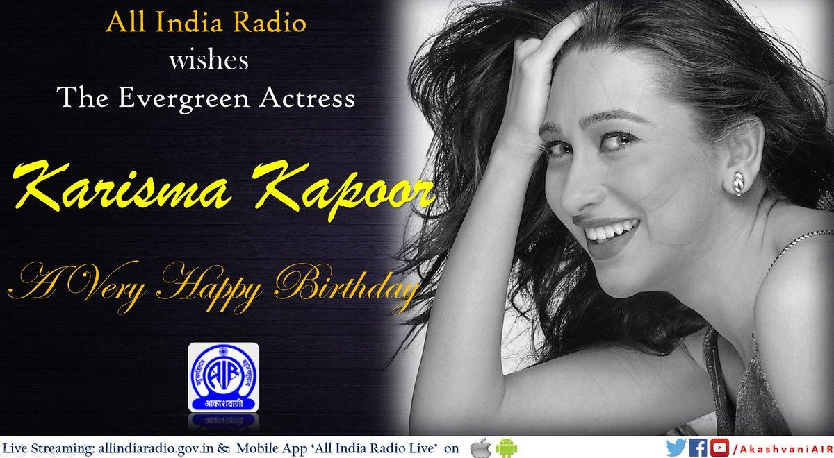All India Radio À¤†à¤• À¤¶à¤µ À¤£ On Twitter Akashvaniair Wishes Popular Film Actress Karishmakapoor A Very Happy Birthday Dyk That She Was Conferred With The National Film Award For Her Role In Dil To