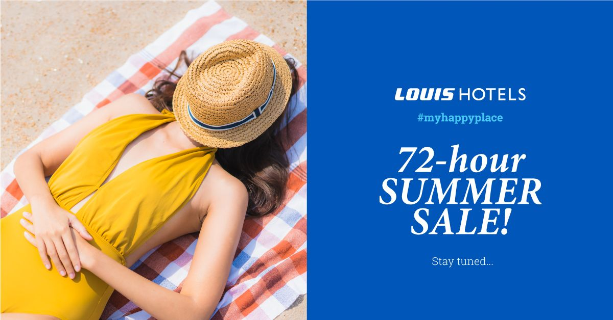 Summer is hot & so is our 72-hour sale! 🔥Stay tuned to find the best deals for your summer holidays in Cyprus, Rhodes, Crete, Zante and Corfu!