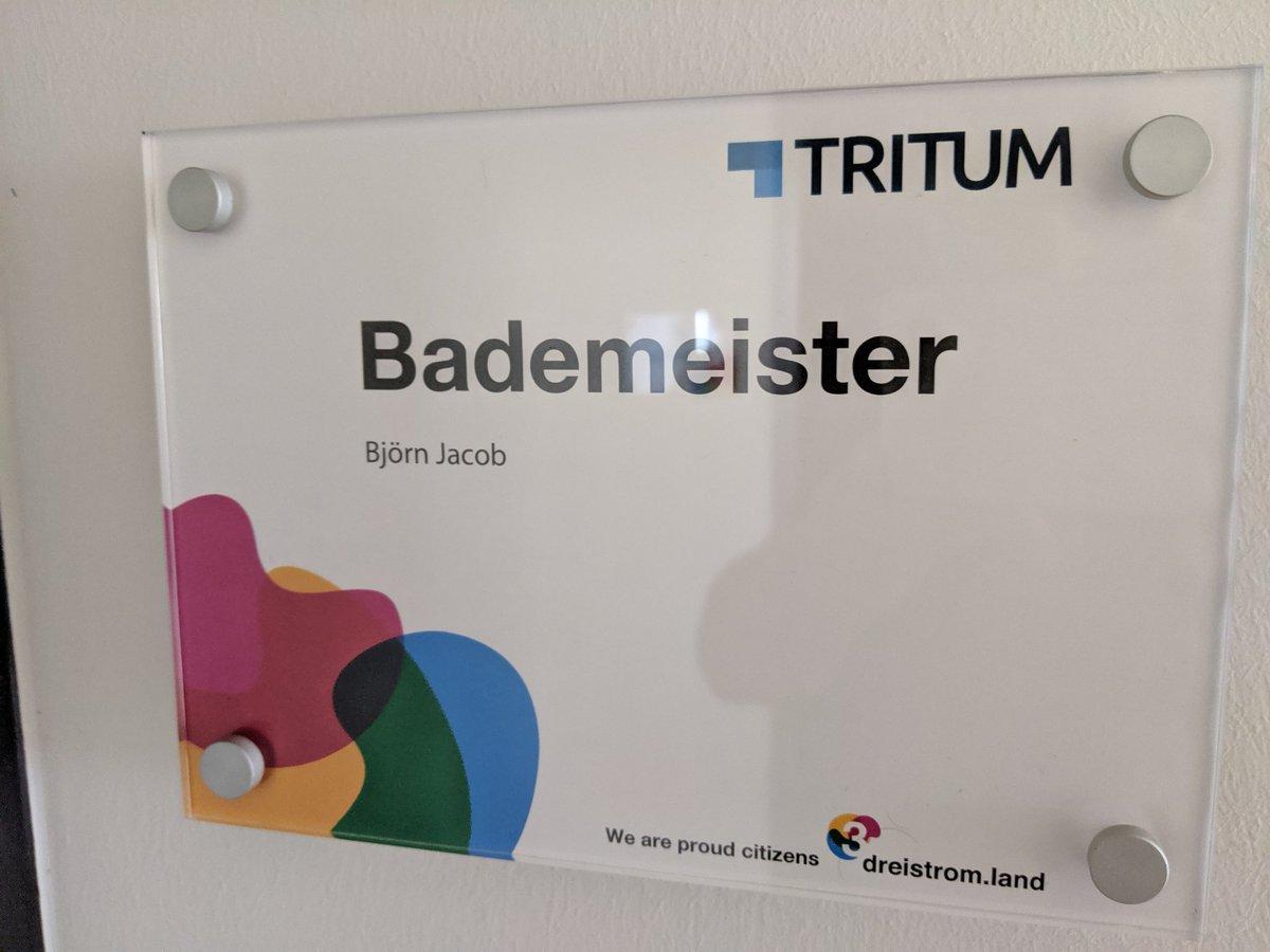 Zu Besuch beim #bademeister @tritum https://t.co/Je3Ga0pBPU