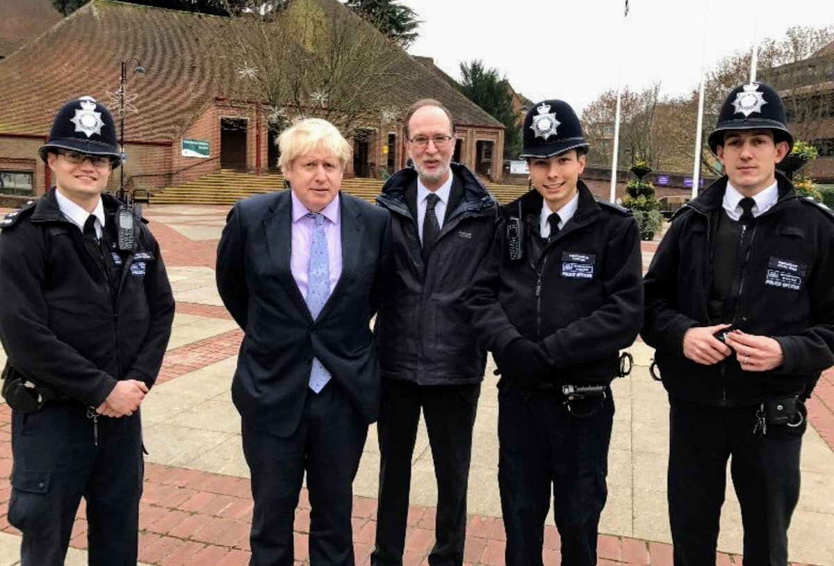 PR Tip for @BorisJohnson  Never put your hands behind your back when having your photo taken with police officers.  You're welcome.