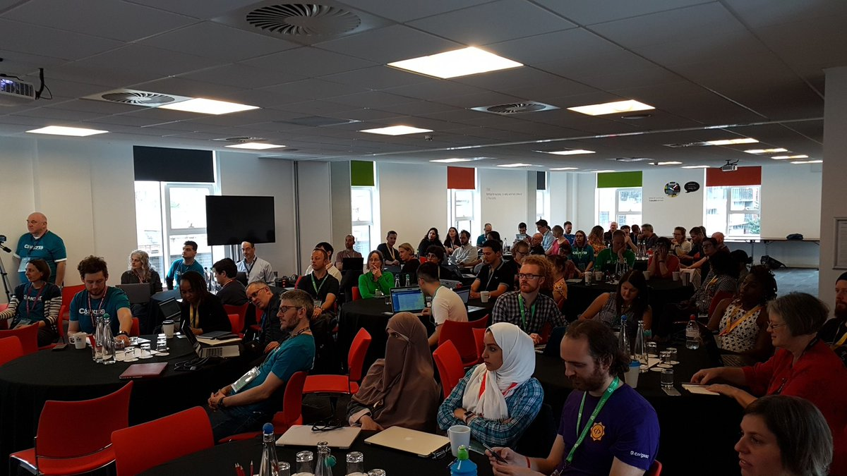 The audience at the start of CarpentryConnect 2019 in Manchester.