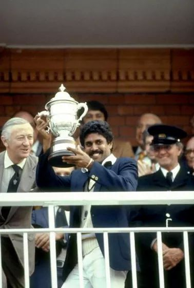 The first ever #WorldCup #KapilDev