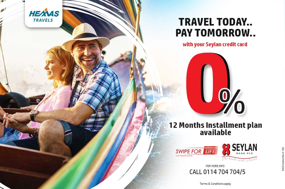 Easy Payment Schemes available for every travel you do #travel #easypayment #seylanbank #lka #sl #offers https://t.co/NbKX8W4WjO