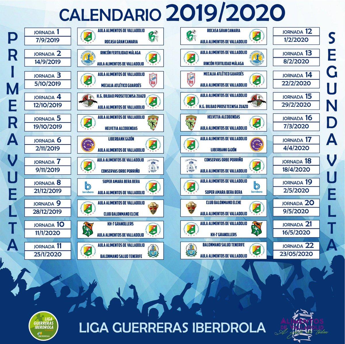 Nuestros socios, amigos y simpatizantes ya tienen el calendario, SIN EUROPA, de nuestro equipo para la Temporada 2019/2020 @IberdrolaDHF gentileza de @rubopucela . #AulaenEuropa #SéptimoañoDHF @alimentosVALL @Dip_Va @AyuntamientoVLL #finalistasCopaReina2019 @LAsNONNA @Scwuimac