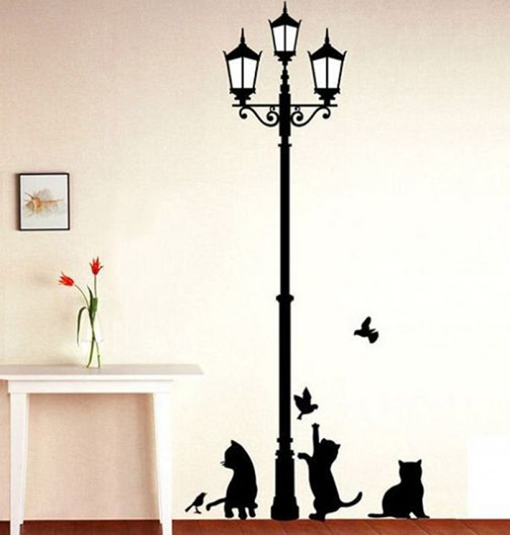 #cat #animals Decorative Wall Decals Ancient Lamp With Cats And Birds https://t.co/B4GrXn9XOA