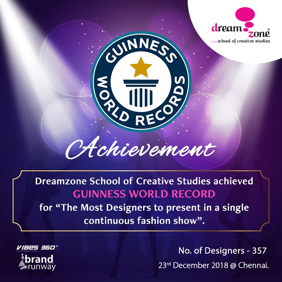 Dreamzone School Of Creative Studies On Twitter Dreamzone Hat As We Make The Guinness Book Of World Record For The Most Designers To Present In A Single Continuous Fashion Show Were 357