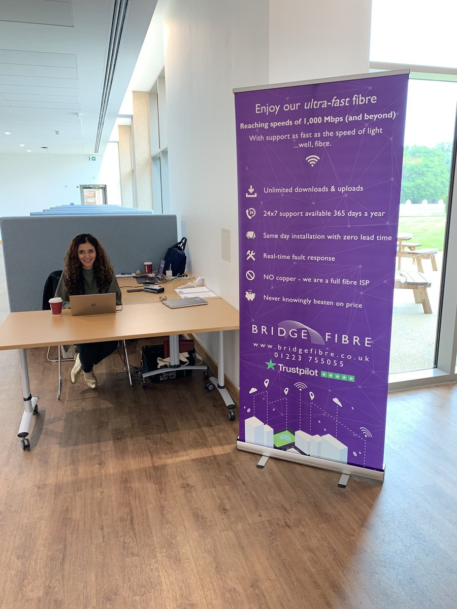 @BabrahamUK Today we're Showcasing #BridgeFibre services in the Babraham Research Campus. We're welcoming IT leaders, Networking engineers and anyone and everyone who would like to speak to us at the Cambridge Building #isp #fibre #technology