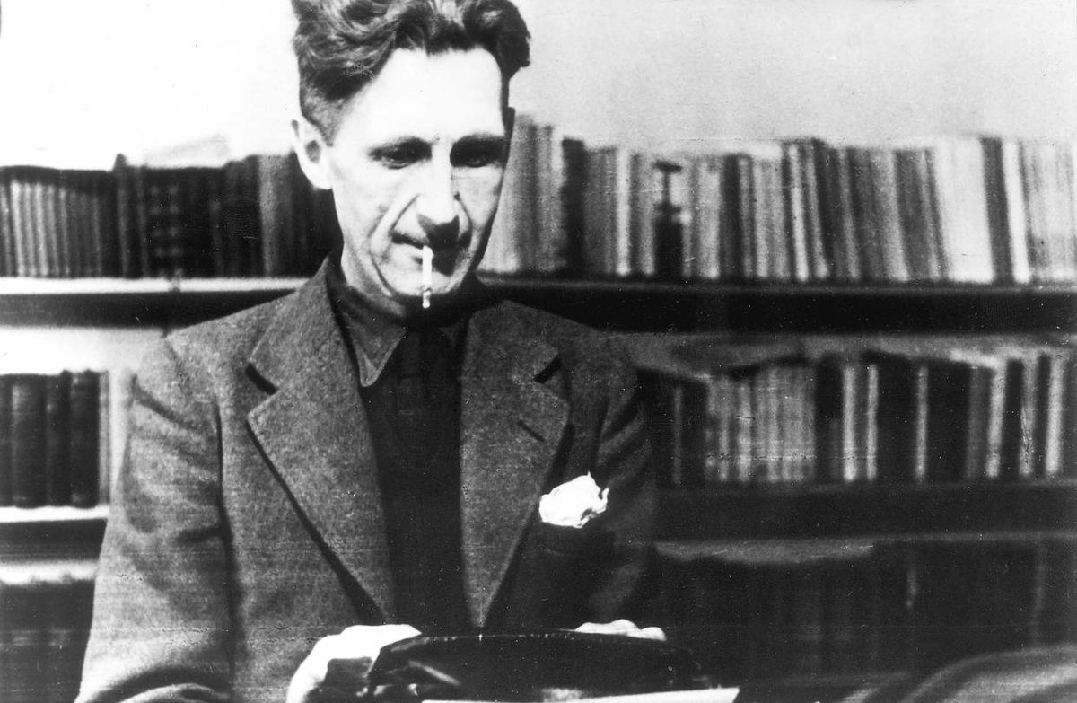 Either we all live in a decent world, or nobody does. George Orwell, born #OnThisDay in 1903. This year also marks the 70th anniversary of the publication of 1984.