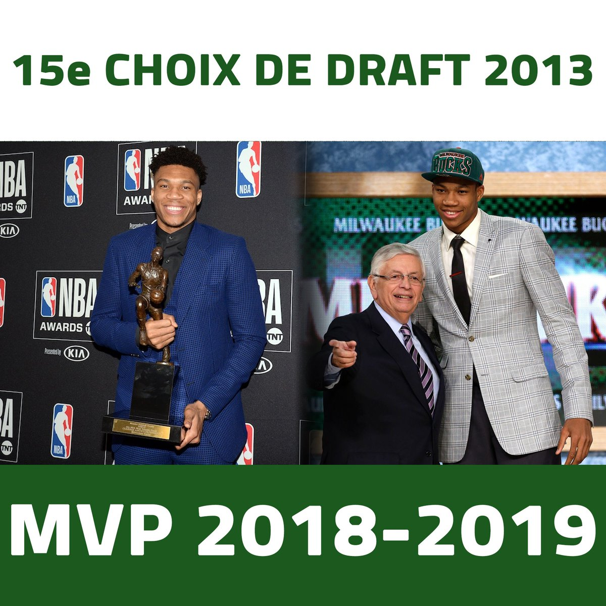 Monsieur #Antetokounmpo 🏀 #NBAAwards