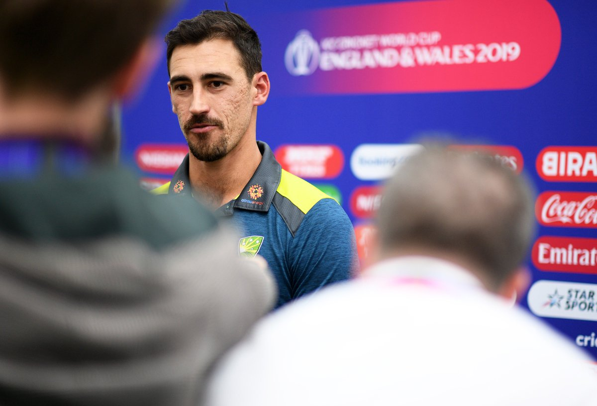Mitchell Starc cant wait to get stuck into England at the @HomeOfCricket later today! We caught up with Australias pace weapon ahead of the big match 🇦🇺 #CmonAussie | #CWC19