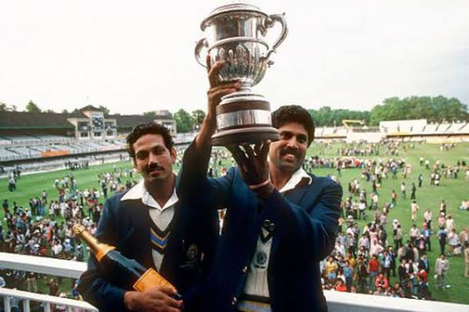 25 June 1983 On this day I was not born but father was tell that time we are not favorite.. We had defeated the champion team of that time in the final and his happiness is something else .. #Champions#Kapildev