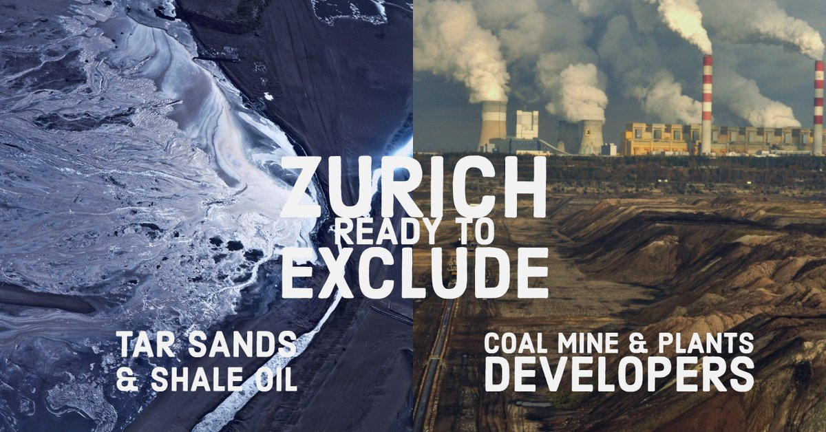 [BREAKING] @Zurich insurance has just announced a new #climate policy and will stop insuring, after a two years engagement process, companies 👉with more than 30% of their activities in #coal, #tarsands & #Shale Oil 👉developing new coal mines and plants  https://www.zurich.com/en/corporate/media/news-releases/2019/2019-0625-01…