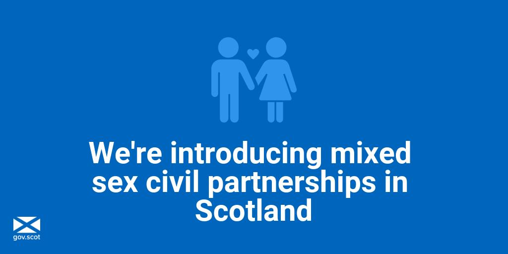 Civil partnership is to be extended to mixed sex couples in Scotland   We believe in equality of choice for all couples. <br>http://pic.twitter.com/TlspfamL4V