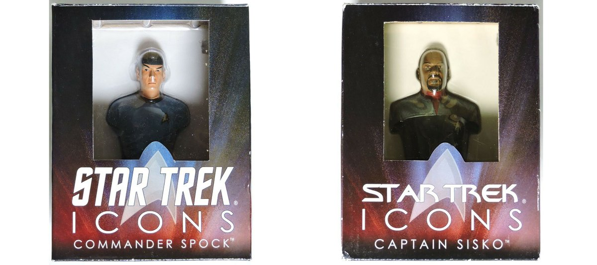 Star Trek Icons Commander Spock and Captain Benjamin Sisko Limited Edition Bust of 1701 from Diamond Select Toys. #StarTrek #DiamondSelectToys #StarTrekPicard