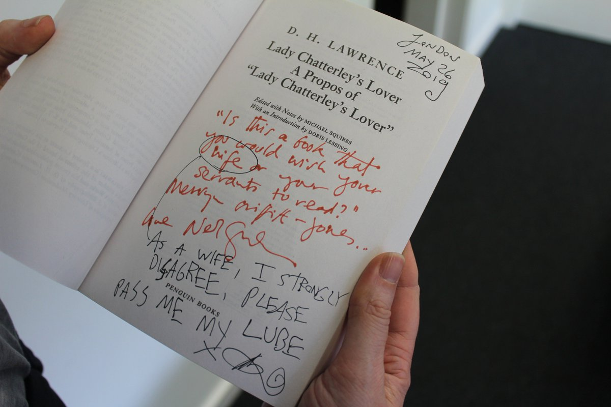 Exciting news! PEN supporters @neilhimself & @amandapalmer have donated five specially annotated copies of Lady Chatterley's Lover for us to auction for our ongoing campaign! Find out more & bid by 7 July https://www.englishpen.org/press/lady-chatterleys-lover-neil-gaiman-and-amanda-palmer-donate-annotated-copies-to-support-pens-crowdfunder/…