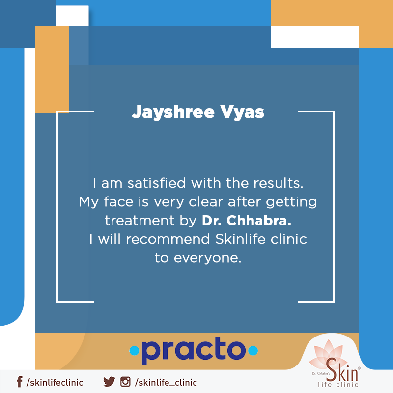Words of appreciation from our happy satisfied customer. Thank you for choosing Skinlife clinic. We shall always continue to help you with our best abilities.#Skinlife #Dermatologist #Indore