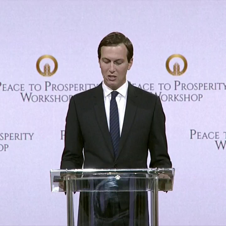 Kushner is trying to sell his Middle East plan at a conference in Bahrain