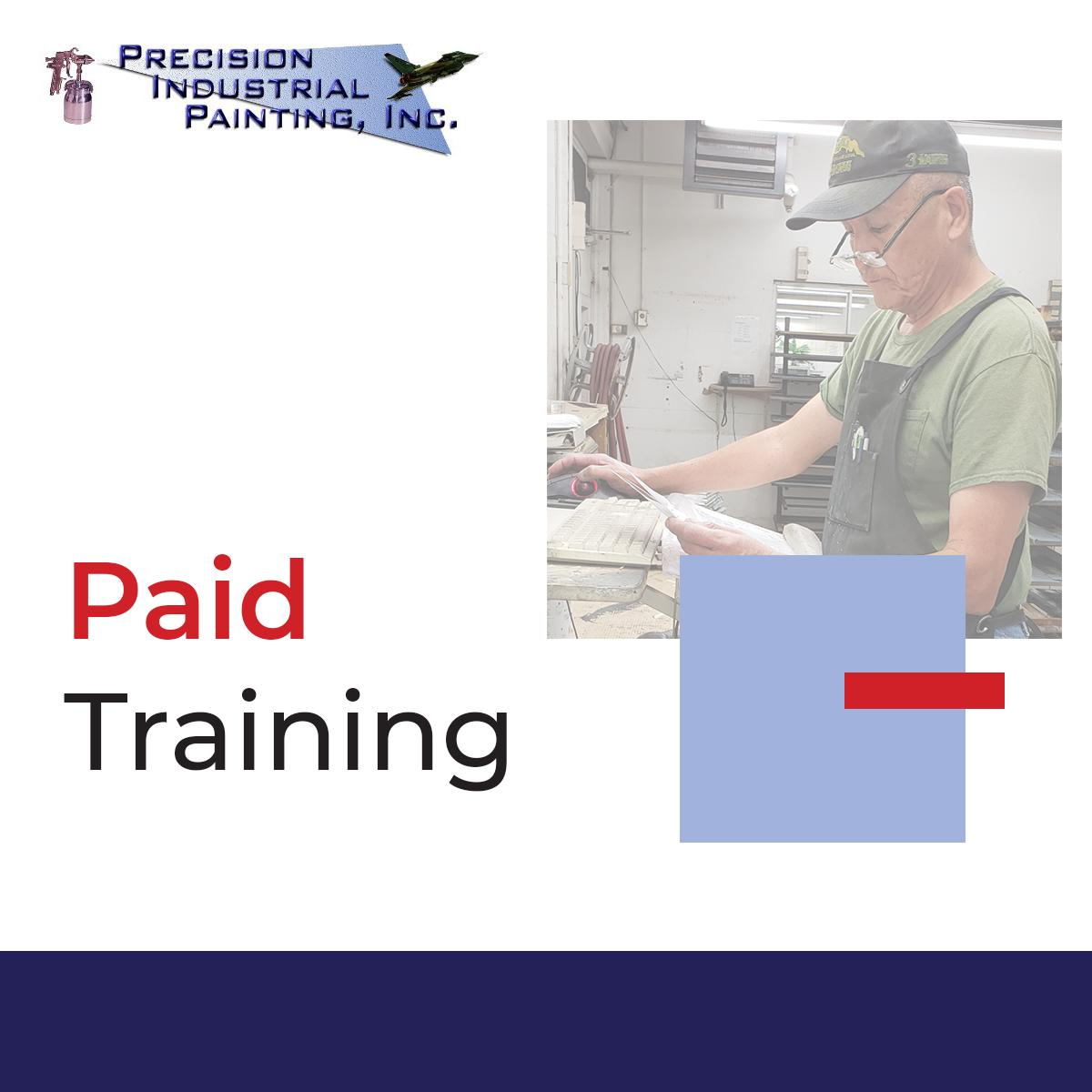 When you join the Precision Industrial Painting team, you receive PAID on-site training. Looking to start your next career? Apply today! https://bit.ly/2N8BoXK  #PrecisionIndustrialPainting #TeamPIP #PowderCoating #AZJobs #PhoenixJobs #Phoenix #Arizona #NowHiring #EntryLevel