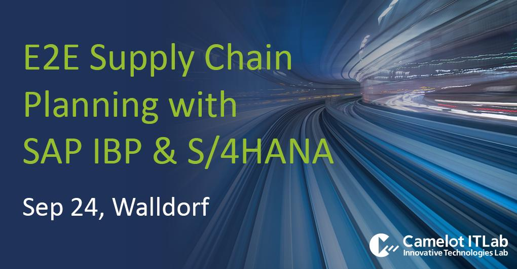 The vision of an end-to-end #SupplyChain planning platform and the integration to #SAP #IBP and SAP #S4HANA: answers at the Camelot & SAP Supply Chain Management Forum: bit.ly/2LfEkiM