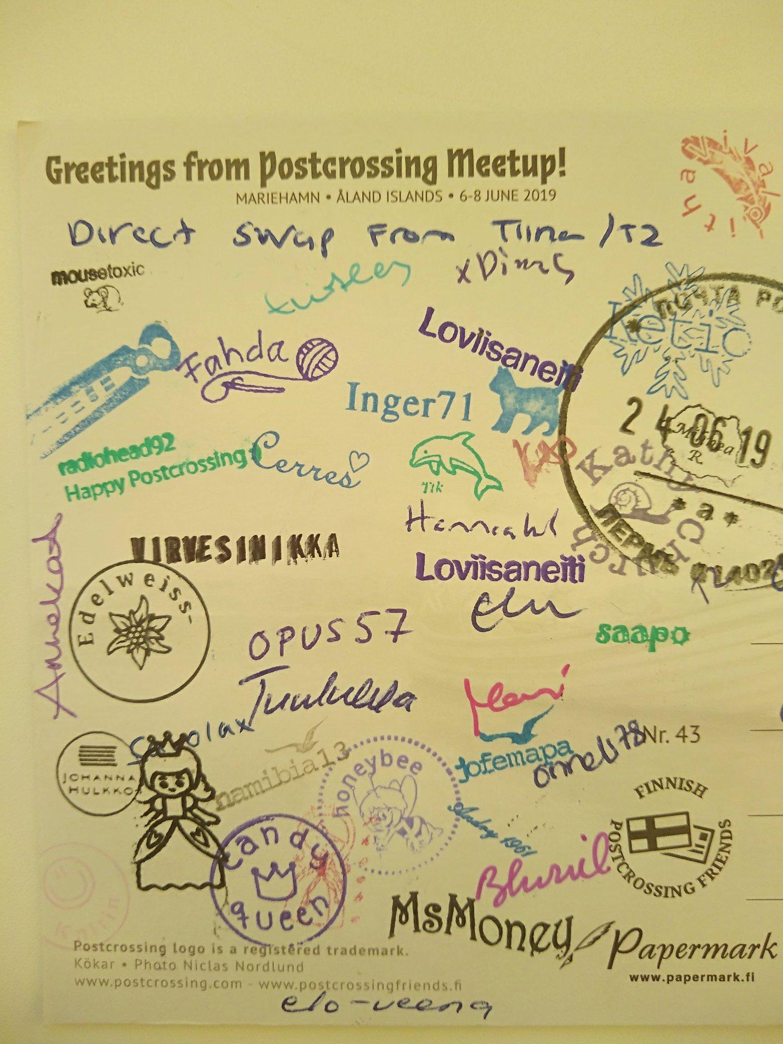 Как подписать открытки для посткроссинга