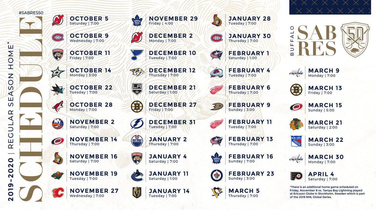 Unforgettable image throughout sabres schedule printable