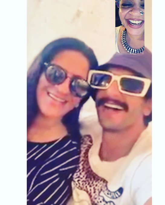 Insta Update : Ranveer Singh and Mama Bhavnani wishes a very happy birthday    Caption