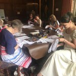 Image for the Tweet beginning: Another successful embroidery workshop, hosted