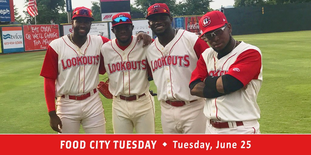 Tonight your Lookouts start 5 straight against the Smokies. Come on out for FUN at AT&T Field. Show for Food City ValuCard at the Lookouts Ticket Office and get buy one get one FREE tickets to tonights game. 🎟️➡️ atmilb.com/2Mg9e88