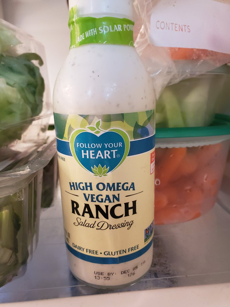 Didn't think it was possible to make a good-tasting #vegan ranch dressing, but by golly, @FollowYourHeart did it. FYH is slowly becoming my go-to brand for #dairyfree products that taste really darn close to the real thing. <br>http://pic.twitter.com/oU39jeeYhW