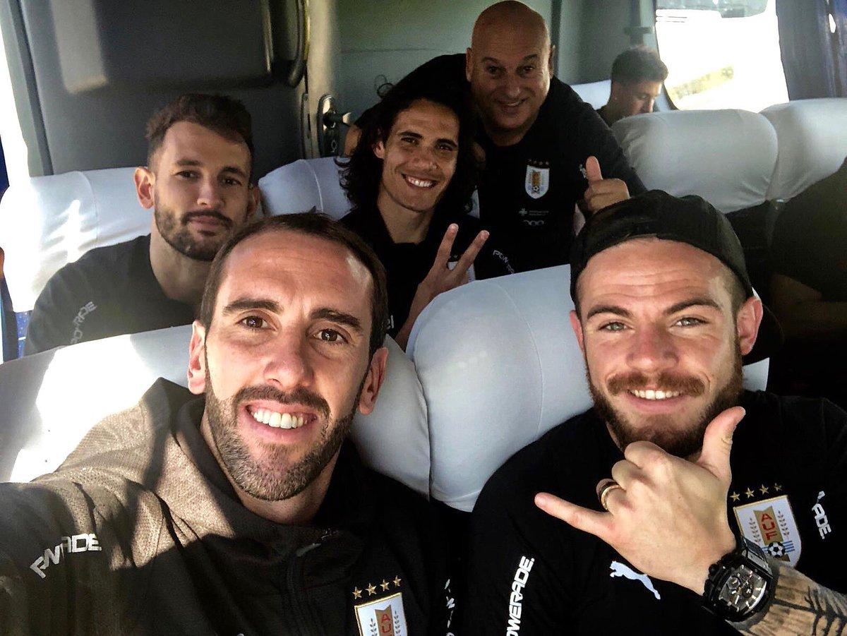 Día de recuperación con la banda!! Contentos por el triunfo de ayer!!! Uruguay noma 💪💪🇺🇾