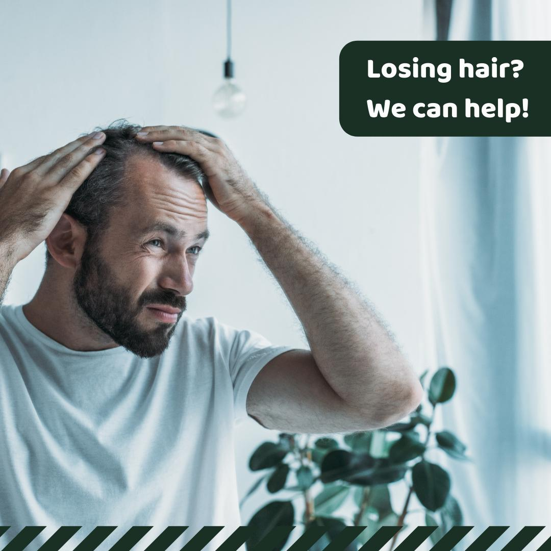 #AndrogenicAlopecia (AA) is a common form of #hairloss in both men & women. In men, this condition is known as #MalePatternBaldness & in women, AA causes thinning of the hair all over the head. Our pharmacy can work with patients & their physicians to customize meds to treat AA.