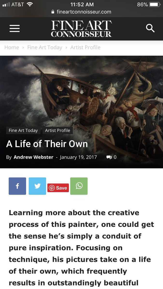 #THROWBACK from a January 2017 @FineArtConnoiss article. Thank you Fine Art Connoisseur and Andrew Webster for the feature🙏🏻 https://fineartconnoisseur.com/2017/01/a-life-of-their-own-2/… • • • #Art #Artist #DavidBowers #OilPaintings #Linen #Twitter #AndrewWebster #Article  https://www.instagram.com/p/BzI6Tv9HbAT/?igshid=j9dwyu6agnrr…