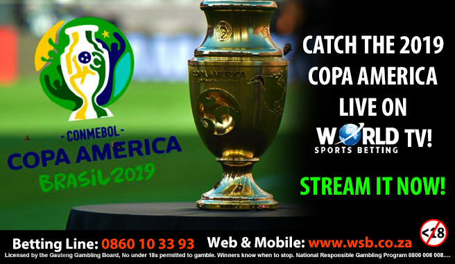Have you been enjoying our #CopaAmerica coverage?  28 Jun 02:30 Brazil vs Paraguay  28 Jun 21:00 Venezuela vs Argentina  29 Jun 01:00 Colombia vs Chile  29 Jun 21:00 Uruguay vs Peru  LIVE Streaming available on all 1/4 Finals at World Sports Betting https://t.co/iunNOYtbzD