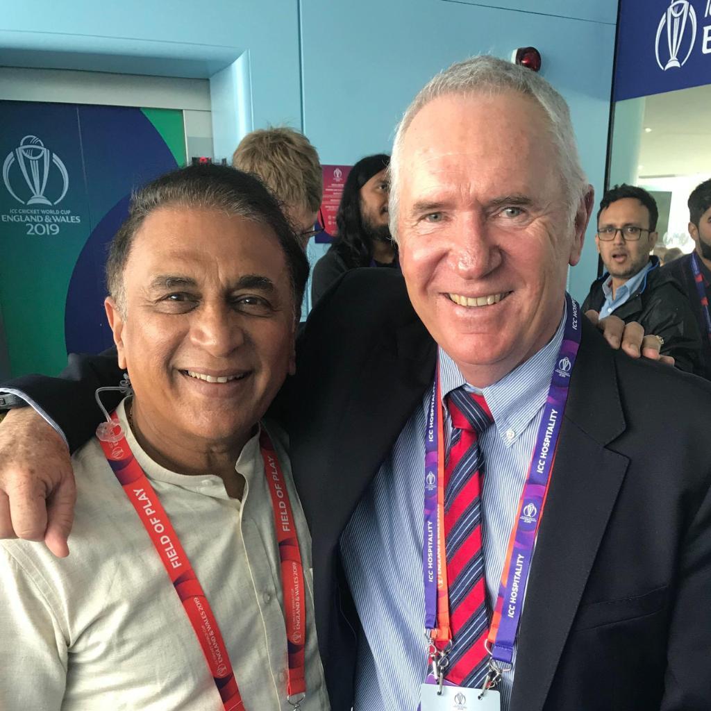 🏆 World Cup winners 🔟 10k Test runs 🔥 Fierce competitors 🤝 Friends Allan Border and Sunil Gavaskar, a pair of true legends, were reunited at Lords today 😍