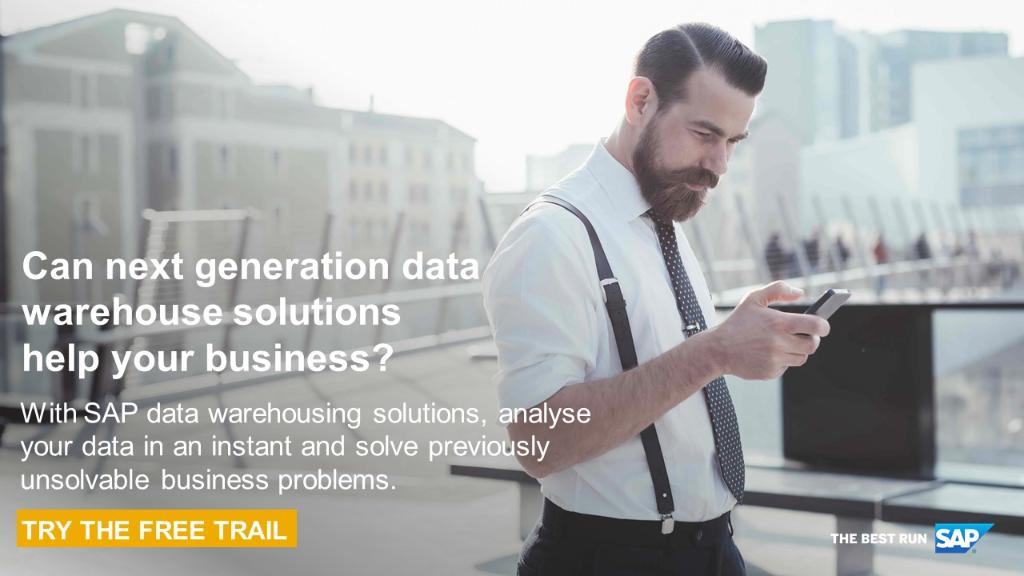 Can the next-generation data warehouse solution from @SAP help your business? Learn more about it and start your free trial today: http://sap.to/6016EoWzk #bigdata #cloud