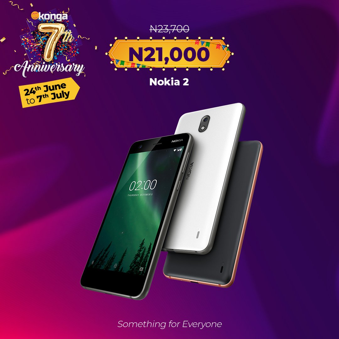 Grab this #KongaAnniversarySale Nokia2 Deal Now..  Hurry   http:// bit.ly/2ZGYJRF      #GrabNow #Konga #TagaFriend #ShopNow<br>http://pic.twitter.com/ngwS1E7WkI