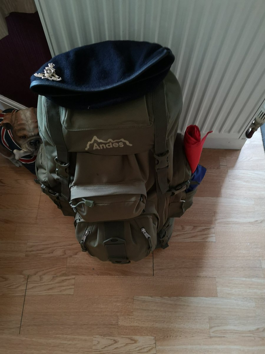 All ready for the 28th - 30th, The Great Gathering, Green Park London. 16kg bergan, 29 heat, couple of Mile March. Whats not to like ! #livingthedream with @MarchJfniv @Justice4NIvets @ClarkAndSonLtd @HowardD96763282 @VUASuicide @RobinHorsfall @supportourparas @JH_1970
