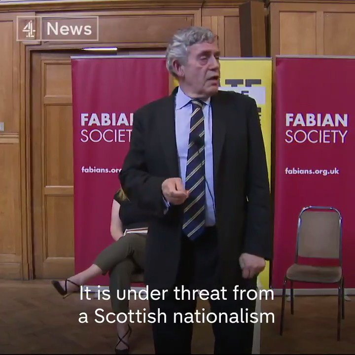 """We must wake up to the fact that the union is more at risk now than in 312 years of its history.""  Former PM Gordon Brown says the union is ""under threat"" from ""more extreme"" Scottish nationalism and what has become the ""Conservative and Brexit party""."