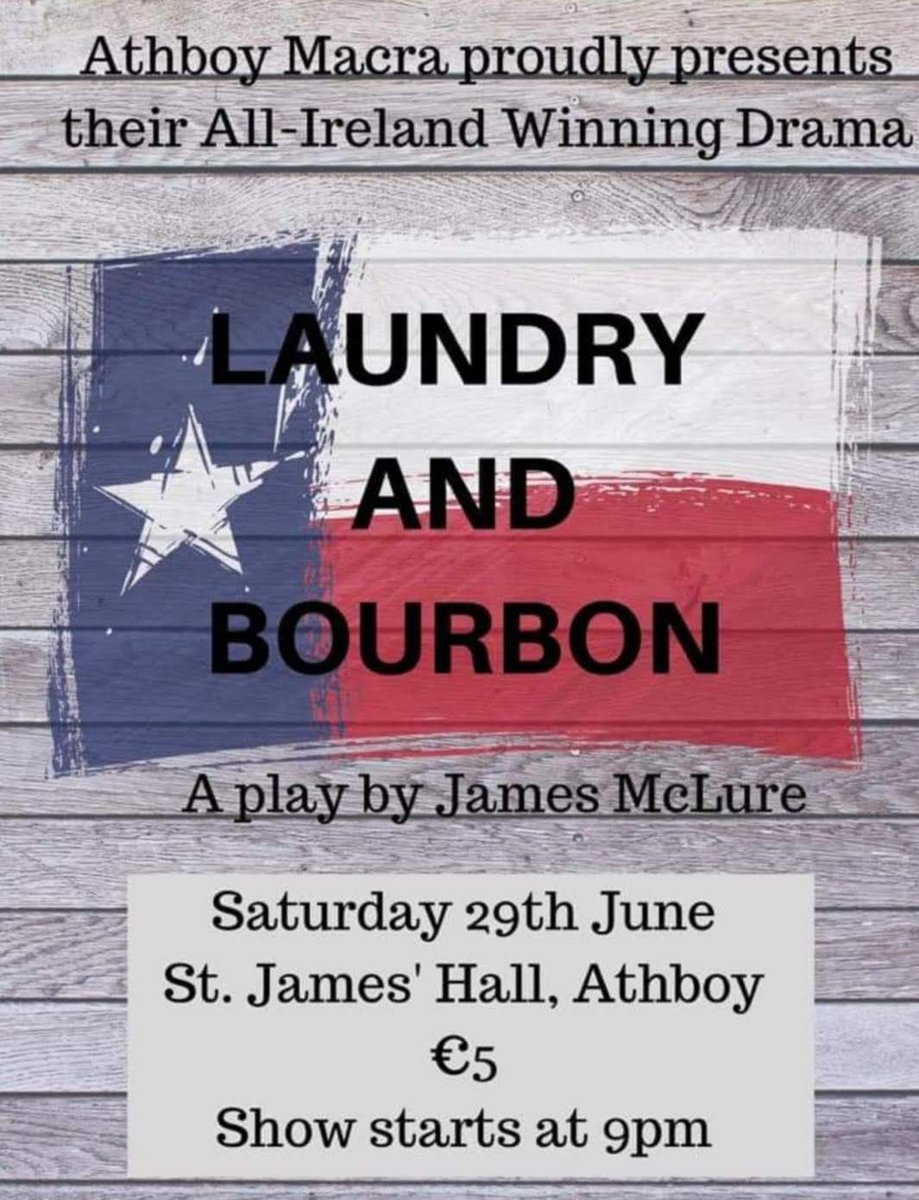 Athboy is the place to be this Saturday night. The 2019 all Ireland Drama winners @AthboyMacra take to stage 😄 😊  #Drama #SaturdayNight #MacraLife
