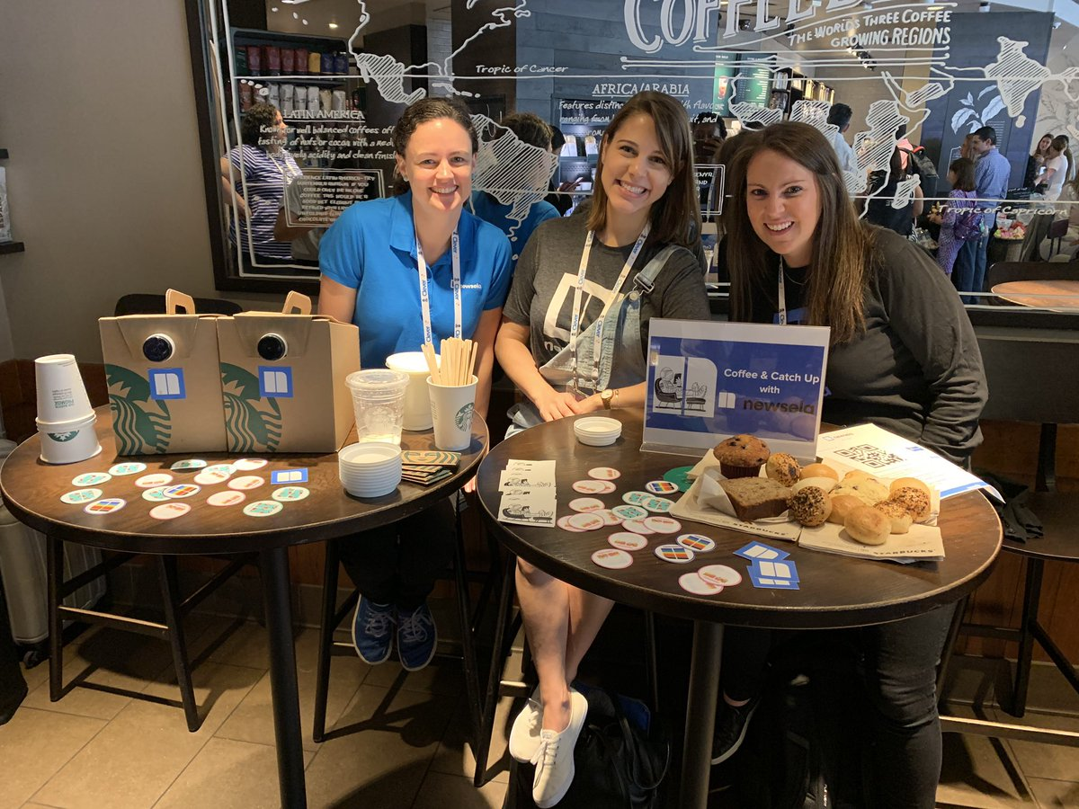 Come stop by Starbucks at 1201 Market to chat with the @Newsela team! #ISTE19 #NewselaEverywhere