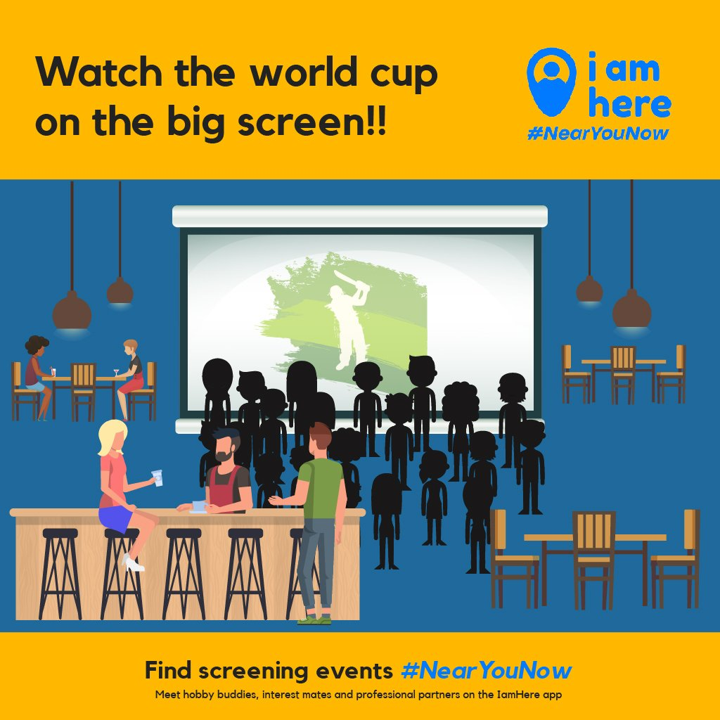 Magnify your world cup experience with a big screen!! 📺📺 Find screening events #NearYouNow on the IamHere app!!  . Install the app to explore more #NearYouNow https://zurl.co/UGhT . #iamhere #nearmenow #people #community #friends #neighbourhood #likemindedpeople #buddy