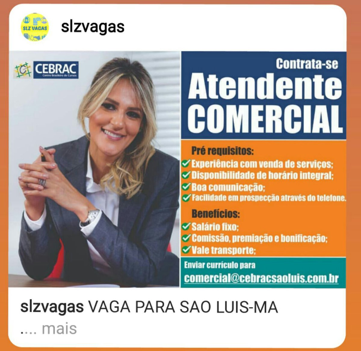 #viaindica #brasil #saoluis #maranhao #indicaçao #lojas #servicos #dicas #cursos #instagram #currículo #slzvagas #compartilhar #currículo #cv #resume #dica #carreira #desenvolvimento